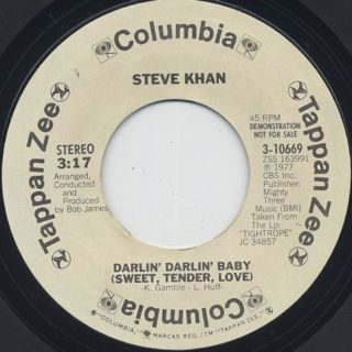 Steve Khan / Darlin' Darlin' Baby(Sweet, Tender, Love) front