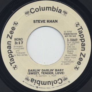 Steve Khan / Darlin' Darlin' Baby(Sweet, Tender, Love) back