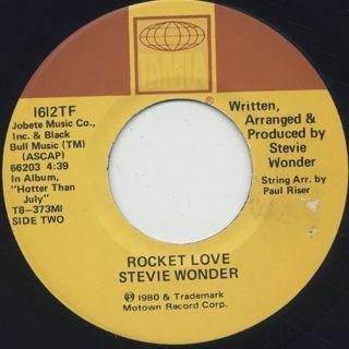 Stevie Wonder / Do I Do c/w Rocket Love back