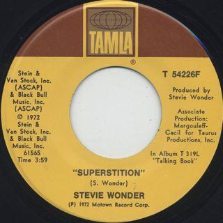 Stevie Wonder / Superstition c/w You've Got It Bad Girl ①