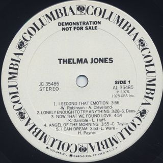 Thelma Jones / S.T. label