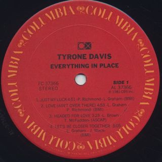 Tyron Davis / Everything In Place label