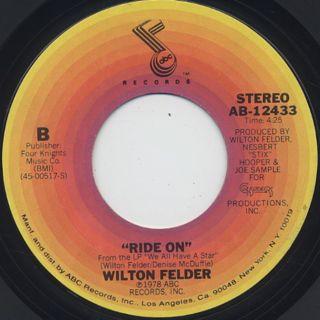 Wilton Felder / Let's Dance Together c/w Ride On back