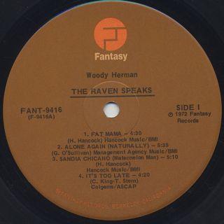Woody Herman / The Raven Speaks label