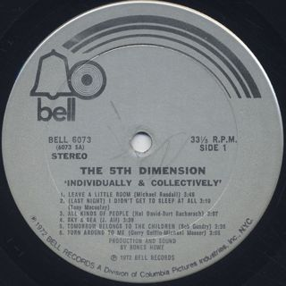 5th Dimension / Individually & Collectively label