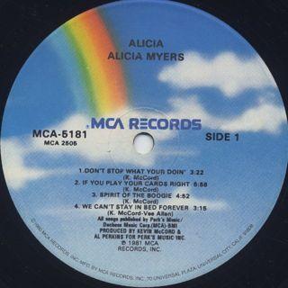Alicia Myers / Alicia label