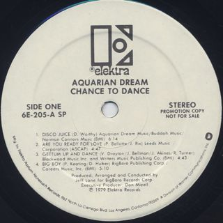 Aquarian Dream / Chance To Dance label