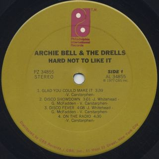 Archie Bell And The Drells / Hard Not To Like It label