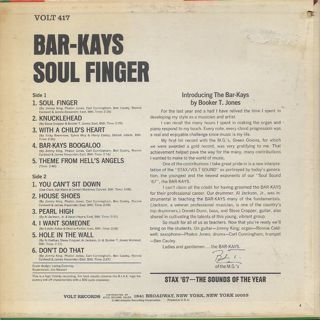 Bar-Kays / Soul Finger back