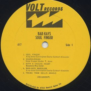 Bar-Kays / Soul Finger label
