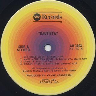 Bautista / S.T. label