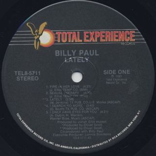 Billy Paul / Lately label