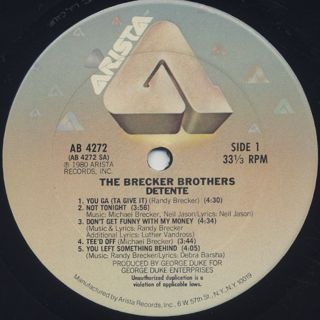 Brecker Brothers / Detente label