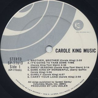 Carole King / Music label