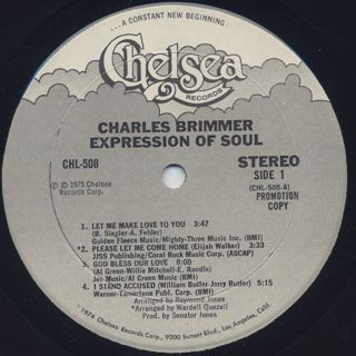 Charles Brimmer / Expression Of Soul label