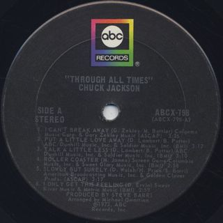 Chuck Jackson / Through All Times label