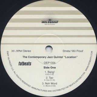 Contemporary Jazz Quintet / Location label