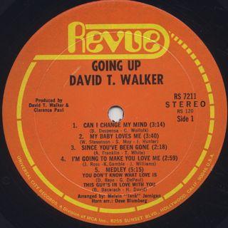 David T. Walker / Going Up! label