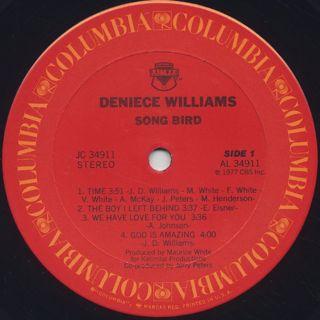 Deniece Williams / Song Bird label