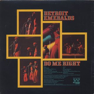 Detroit Emeralds / Do Me Right back