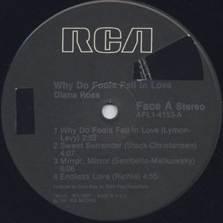Diana Ross / Why Do Fools Fall In Love label