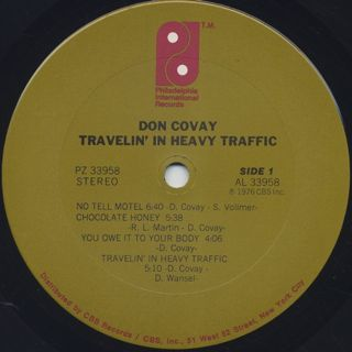 Don Covay / Travelin' In Heavy Traffic label