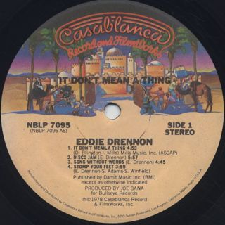 Eddie Drennon / It Don't Mean A Thing label