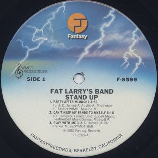 Fat Larry's Band / Stand Up label