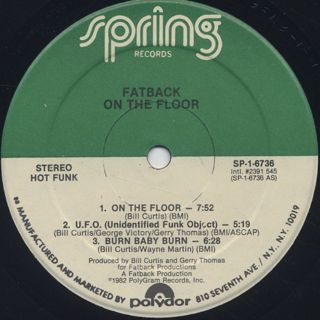 Fatback / On The Floor With Fatback label