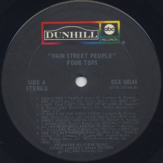 Four Tops / Main Street People label