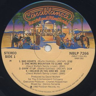 Four Tops / One More Mountain label