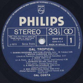 Gal Costa / Gal Tropical label