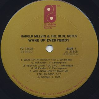 Harold Melvin & The Blue Notes / Wake Up Everybody label