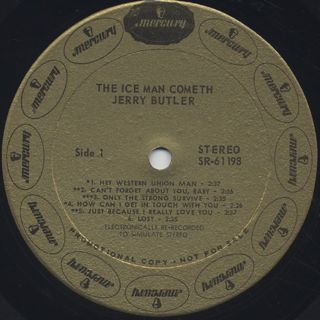 Jerry Butler / The Ice Man Cometh label
