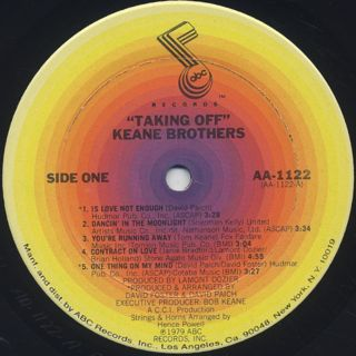 Kane Brothers / Taking Off label