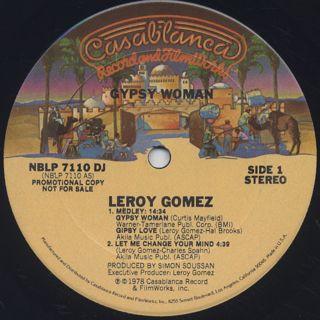 Leroy Gomez / Gypsy Woman label