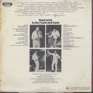 Lloyd Price / To The Roots And Back back