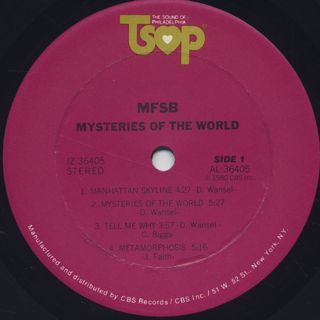 MFSB / Mysteries Of The World label