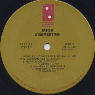 MFSB / Summertime label