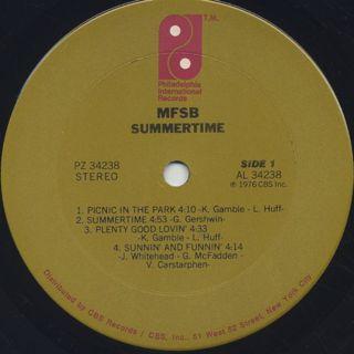 MFSB / Summertime label