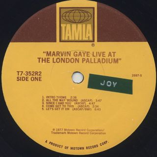 Marvin Gaye / Live At The London Palladium label