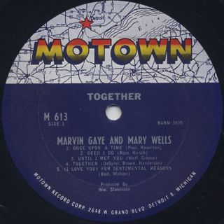 Marvin Gaye & Mary Wells / Together label