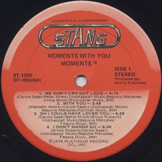 Moments / Moments With You label