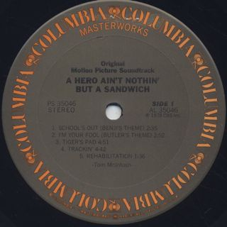 O.S.T.(Hubert Laws Group) / A Hero Ain't Nothin' But A Sandwich label