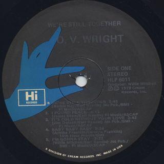O.V. Wright / We're Still Together label