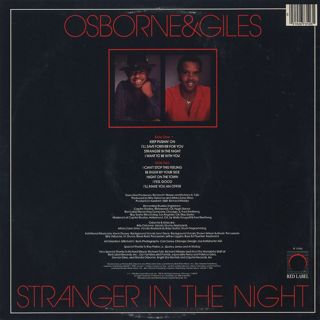 Osborne & Giles / Stranger In The Night back