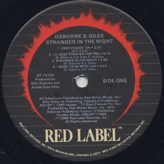 Osborne & Giles / Stranger In The Night label