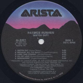Patrice Rushen / Watch Out! label
