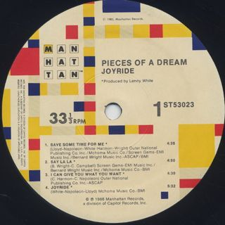 Pieces Of A Dream / Joyride label