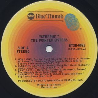 Pointer Sisters / Steppin label